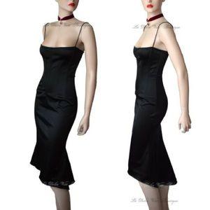 Dolce and Gabbana black corset evening dress 40 IT
